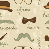 Mustache party seamless pattern Stock Photo