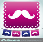 Mustache party vector decoration Stock Photos