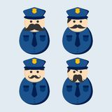 Mustache police guy avatar portrait picture icon Royalty Free Stock Photography
