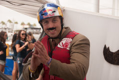 Mustache. Red Bull Flugtag Long Beach 2013 stock images