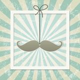 Mustache retro background Stock Image