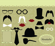 Mustache retro image Stock Image