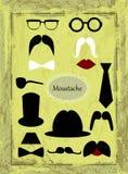 Mustache retro images Stock Photos