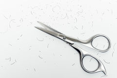 Mustache scissors Royalty Free Stock Image
