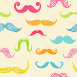 Mustache seamless background. Seamless vector pattern with hipster colorful mustache Stock Image
