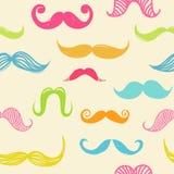 Mustache seamless background Stock Image