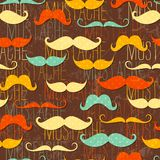 Mustache seamless pattern. In vintage style. EPS 10 vector illustration Royalty Free Stock Photo