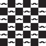 Mustache seamless pattern Stock Images