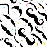 Mustache Seamless Pattern Royalty Free Stock Images