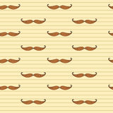 Mustache seamless pattern. Retto musrache. Mustache vector background. EPS10 vector retro background. Mustache seamless pattern. Mustache vector background Royalty Free Stock Photography