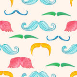 Mustache seamless Royalty Free Stock Photo