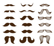 Mustache set. Set of different style mustaches Stock Image