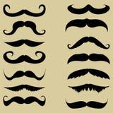 Mustache. Set vector illustration