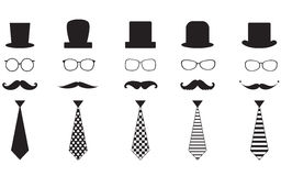 Mustache set Stock Image