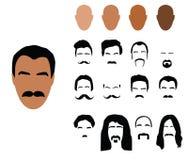 Mustache set Royalty Free Stock Image