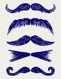 Mustache Sketch Stock Images