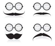 Mustache and sunglasses illustration Royalty Free Stock Photo