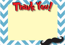 Mustache Thank You Stationary Royalty Free Stock Image