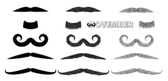 Mustache vector illustration set Stock Image
