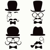 Mustache Vintage Collection Royalty Free Stock Photos