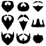 Mustaches and Beards Collection Stock Images
