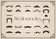 Mustaches collection Royalty Free Stock Image
