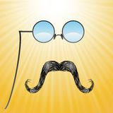 Mustaches and glasses Royalty Free Stock Images