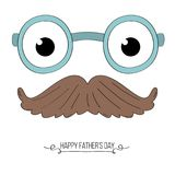 Mustaches and glasses father`s day card. Mustaches and glasses father`s day themed card Royalty Free Stock Photography
