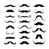 Mustaches icons set. Vector illustration Stock Photo