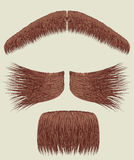 Mustaches for man.Vector collection. On white for design Stock Photography