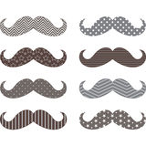 Mustaches Pattern set Stock Photos