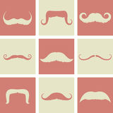 Mustaches retro design Stock Images