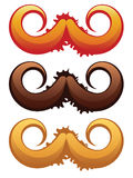 Mustaches Set Stock Images