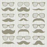 Mustaches set Stock Photography
