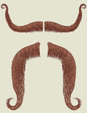 Mustaches set for man. Vector collection fake for design Royalty Free Stock Images