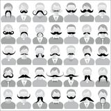Mustaches set Royalty Free Stock Images