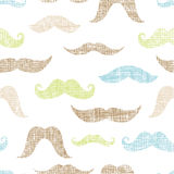 Mustaches textile textured seamless pattern Royalty Free Stock Photo