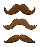Mustaches vector illustration  on white. Background Stock Image