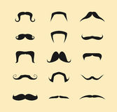 Mustaches Vector Set Stock Photo