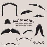 Mustachio! Insieme dei baffi di vettore Fotografia Stock Libera da Diritti