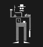 Mustachio mężczyzna Iść biuro Fotografia Stock