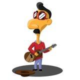 Mustachioed музыкант улицы бесплатная иллюстрация