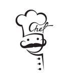 Mustachioed chef Stock Photos