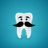 Mustachioed wisdom tooth Stock Image