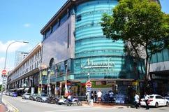 Mustafa Centre en la poca India en Singapur Imagen de archivo libre de regalías
