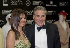 Mustafa Fahmy avec l'épouse Rania Fareed Shawky Images libres de droits