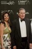Mustafa Fahmy com esposa Rania Fareed Shawky fotografia de stock royalty free