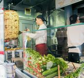 Mustafa Gemuese Kebab in Berlijn royalty-vrije stock afbeeldingen