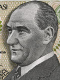 Mustafa Kemal Ataturk first President of Turkey portrait on turk Stock Images