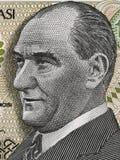 Mustafa Kemal Ataturk first President of Turkey portrait on turk Stock Images